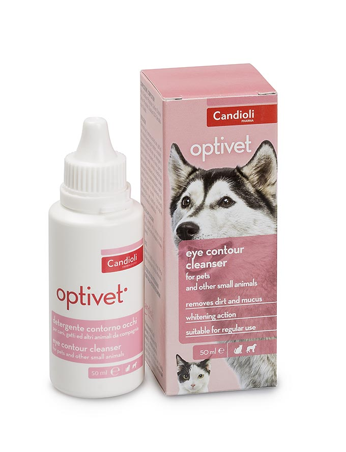 Optivet - eye contour cleanser for white coat dogs, cats and other small animals