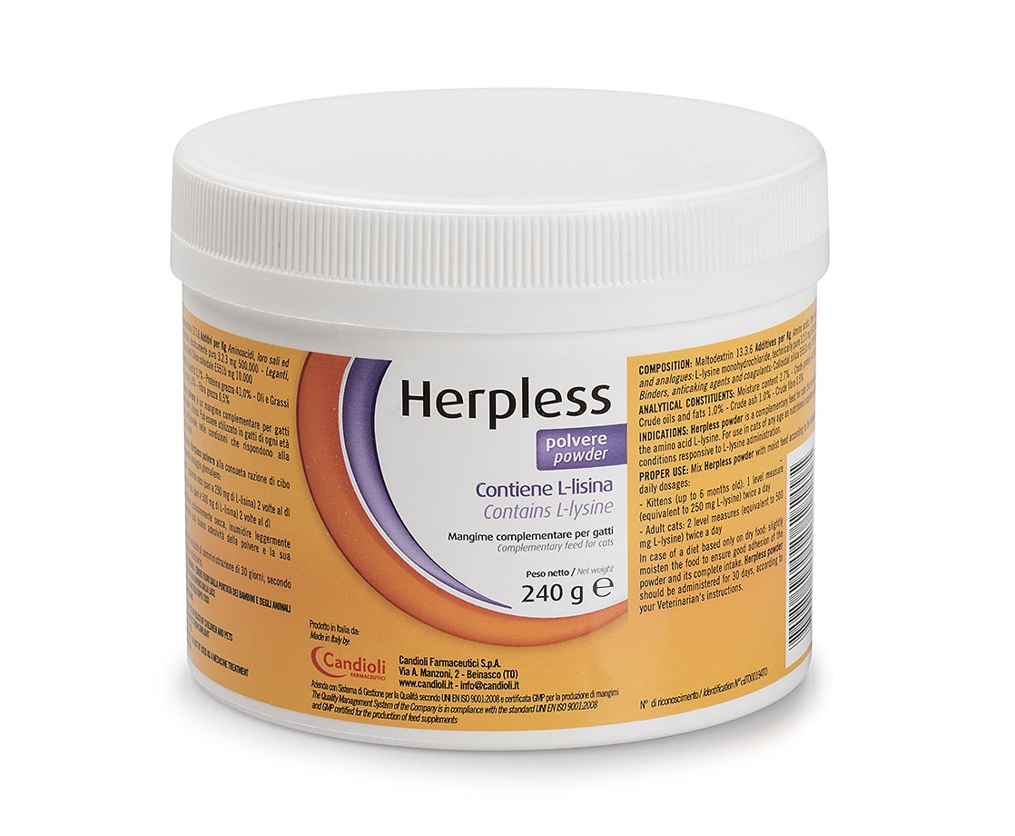 Herpless powder 240 gr containing L-lysine