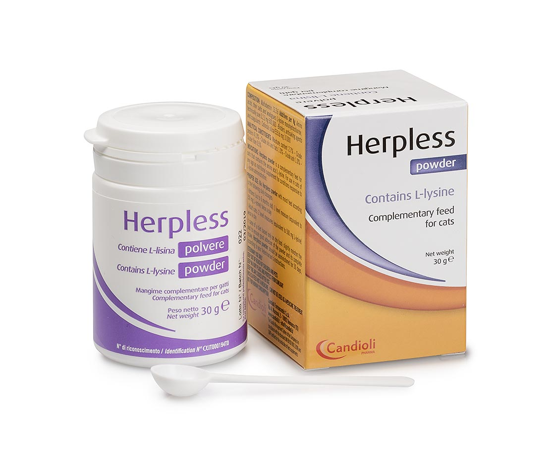 Herpless powder 30 gr containing L-lysine
