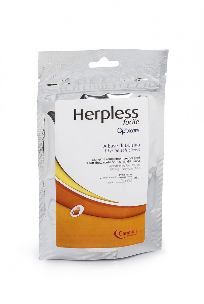 Herpless Facile soft chews containing L-lysine